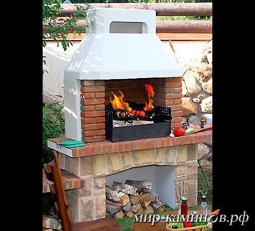 Печь мангал на даче своими руками фото