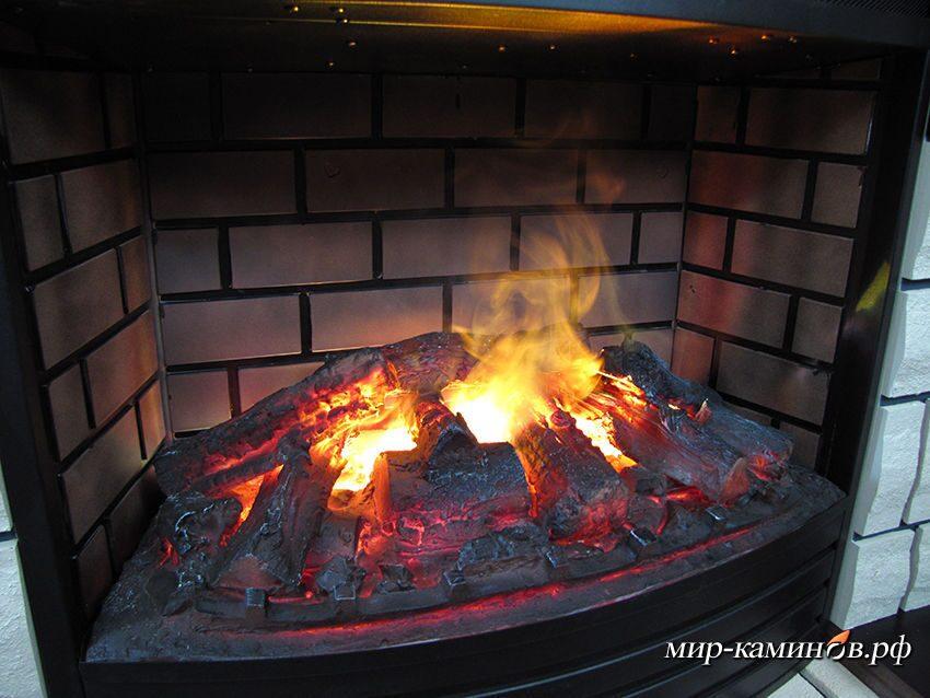 Как сделать имитацию огня в камине своими 983