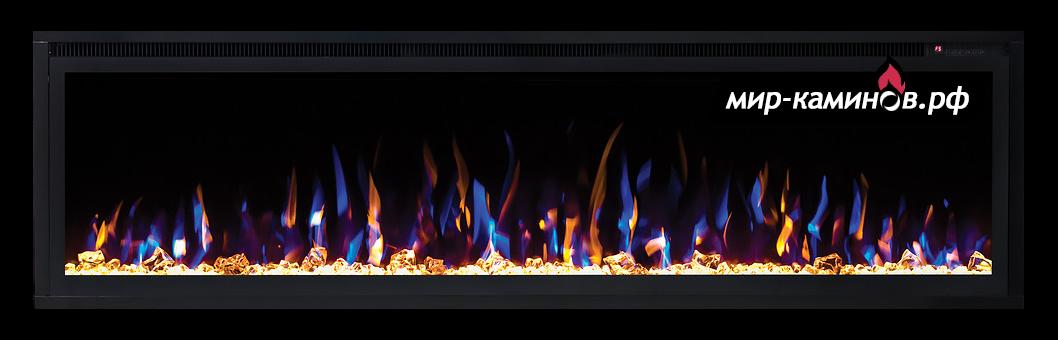 электрокамин очаг saphir 60 - линейный камин с цветным пламенем фото 1