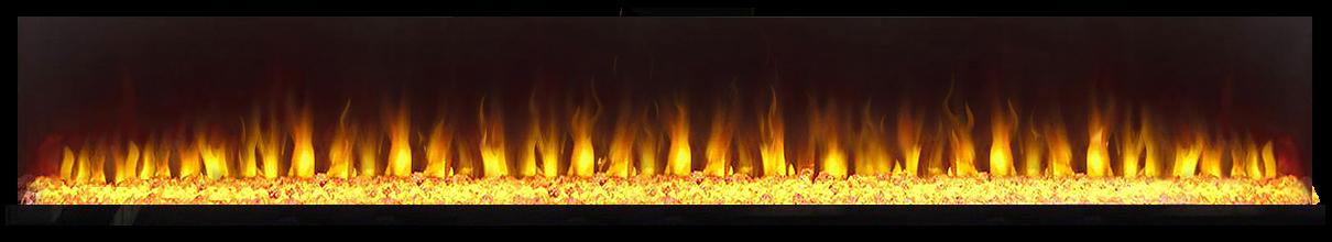 огонь в в электрокамине Vision 60 LED